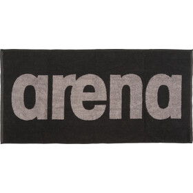 arena Gym Soft Handdoek, black-grey